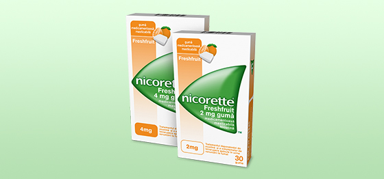Nicorette<sup>®</sup>2 mg/4 mg Gumă medicamentoasă masticabilă